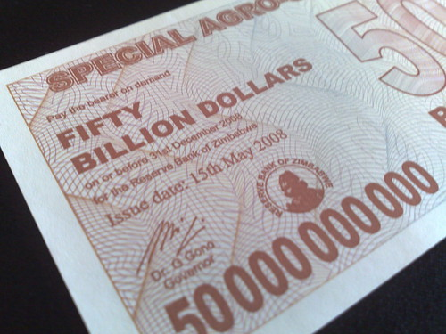 Inflation was a major problem for Zimbabwe