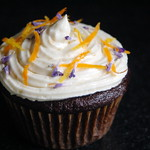 Vegan Lavender Chocolate Orange Cupcakes with Orange Buttercream