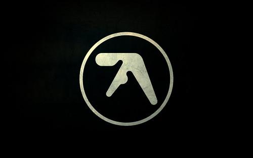 Textured Aphex Twin logo widescreen desktop wallpaper - 1680x1050