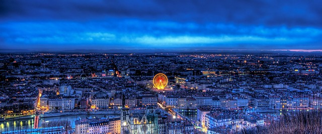 Lyon in the Evening