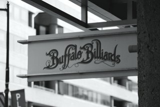 Buffalo Billiards Sign