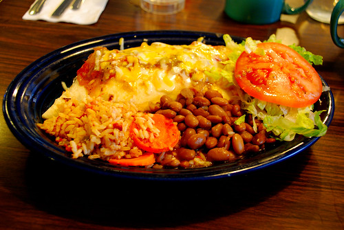mannie's--chicken burrito