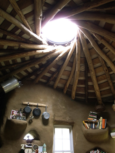Skylight inside reciprocal roof