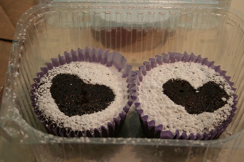 Heart cupcakes for delivery