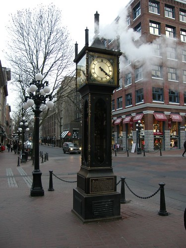 The world famous Steam Clock in Gastown Vancouver