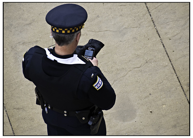 Officer with Blackberry