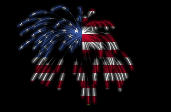 Happy 4th of July! The American Flag in Fireworks
