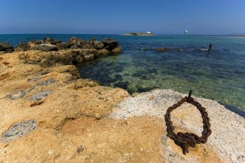 Old harbour in Malia, Crete