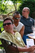 Paul (Passatempo), Edwyn (Hart House), Quentin (Naramata Inn) at Lake Breeze during a sommelier retreat
