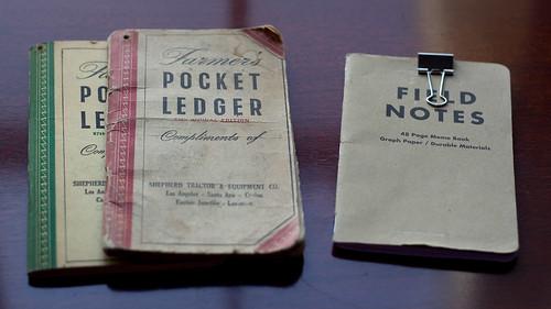 Grandpa's Pocket Ledger & My Field Notes