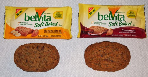 Nabisco belVita Soft Baked Breakfast Biscuits (Banana Bread and Cinnamon) Comparison