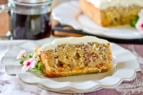 Apple Spice Cake with Cream Cheese Icing-10