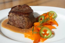 Beef Tenderloin, Carrots and Miso