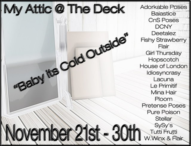 My Attic - NOW OPEN - Baby its Cold Outside