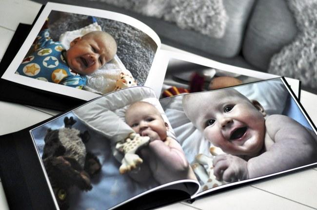 Gör en fotobok med dina barnbilder