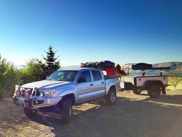 Toyota Tacoma and Xventure Off Road Trailer