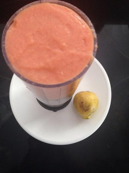 Uncooked guava puree