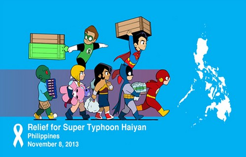 Haiyan aid comic book writers