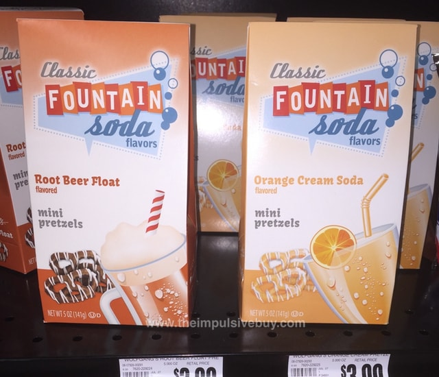 Wolfgang Candy Co. Classic Fountain Soda Mini Pretzels (Root Beer Float and Orange Cream Soda)