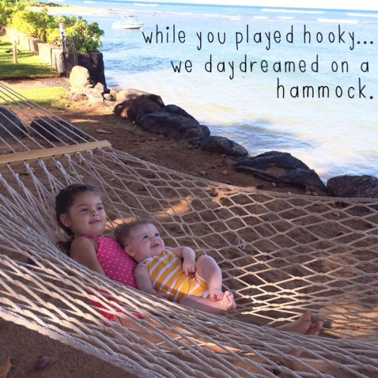 while you played hooky...we daydreamed on a hammock.