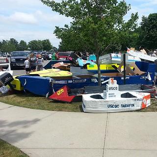 Riverhead paper boat race #Riverhead #boat #peconic #longisland #eastend