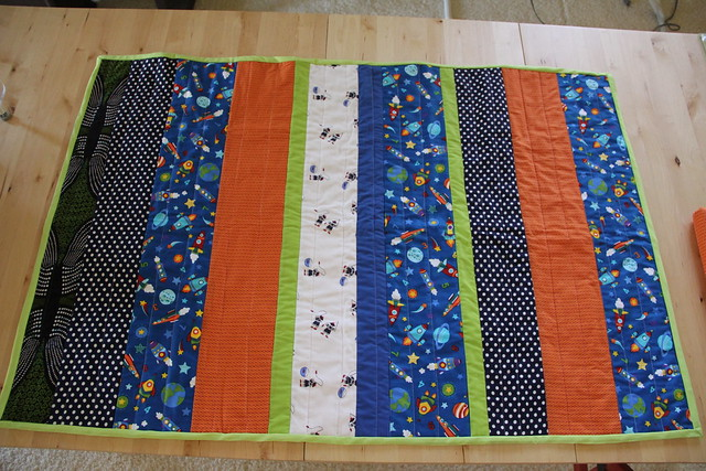 Strip baby quilts