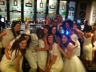 A whole group of BiSC-uits dressed up for the White Party at BiSC 2013!