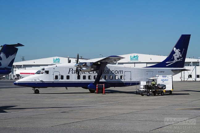 Getting ready to board my 'Pacific Coastal Airlines' flight.