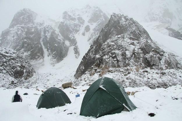 Snow at Komsomolets, Inylchek Glacier, Kyrgyzstan