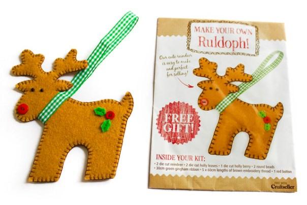 Reindeer felt kit from Craftseller magazine