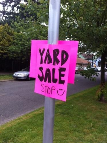 Yard Sale Stop :)