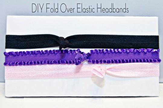 DIY Fold Over Elastic Headbands