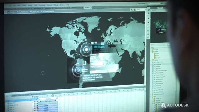 Splinter Cell user interface development with Autodesk