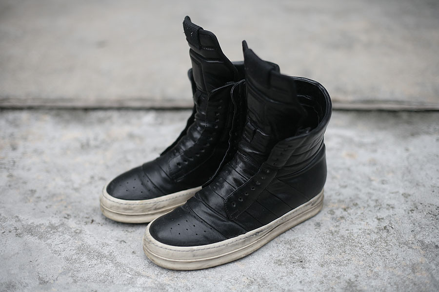 Rick Owens Calf Leather Sneakers.
