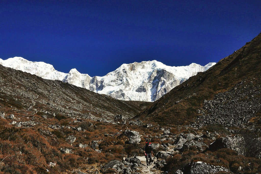 Rick descending toward Bhimtang