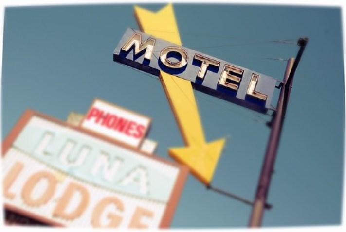 Route 66 Luna Lodge Motel Signs Street Albuquerque New Mexico DSC_3174x by Dallas Photographer David Kozlowski