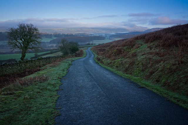 Morning panorama in the Lakes