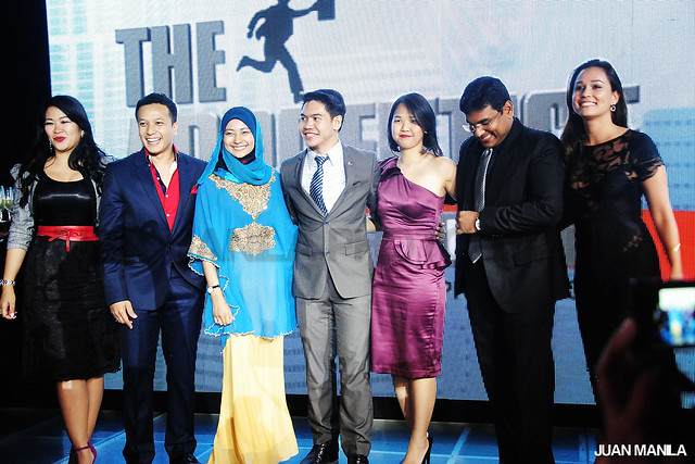 The Apprentice Asia cast who were present during the final viewing party of Season Finale in Manila. From left to right: Dee Oeawpanich (Thailand), Nazril Idrus (Malaysia), Nik Aisyah (Malaysia), Jonathan Yabut (Philippines), Andrea Loh (Singapore), Sam Nallaraj (India), and Celina Le Neindre (Philippines).