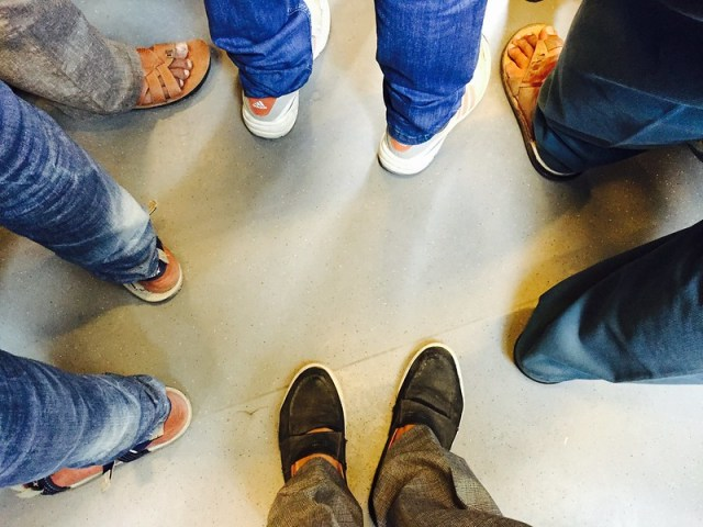 The Unwalked Feet of the Tired Commuters