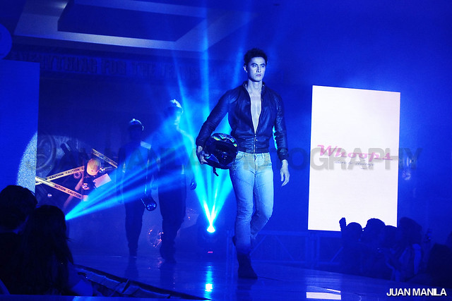 Manhunt International 2012 winner June Macasaet during the Everything For The Jeans Lover fashion show held at SM City Santa Rosa.