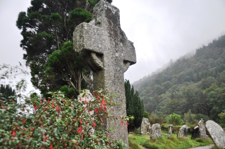 St. Kevin's Cross in Glendalough