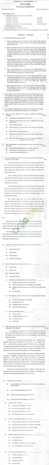 CBSE Sample Paper for Class X English Communicative   SA2   2014