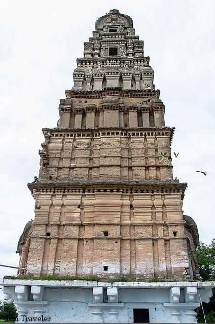 The side of  gopuram kodanda rama temple