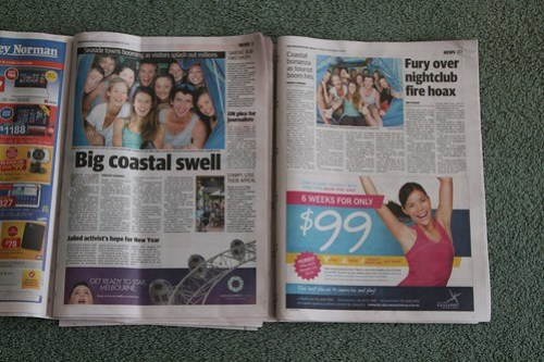 Same article appearing in the 'Geelong Advertiser' and 'Herald Sun'