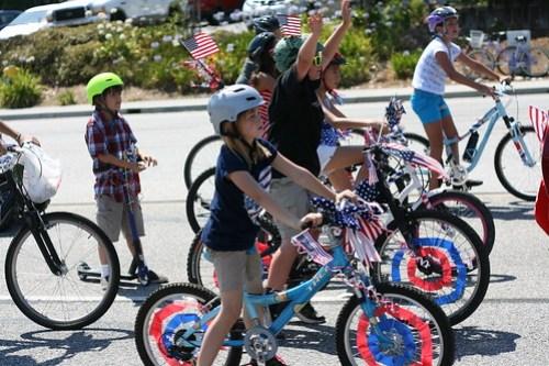 bikes on parade