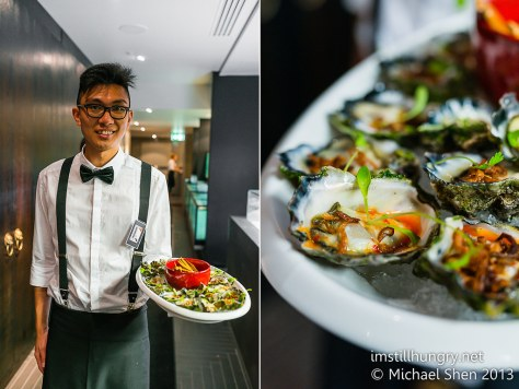 Fresh oysters with the darndest chilli lemon dressing Waitan Sydney