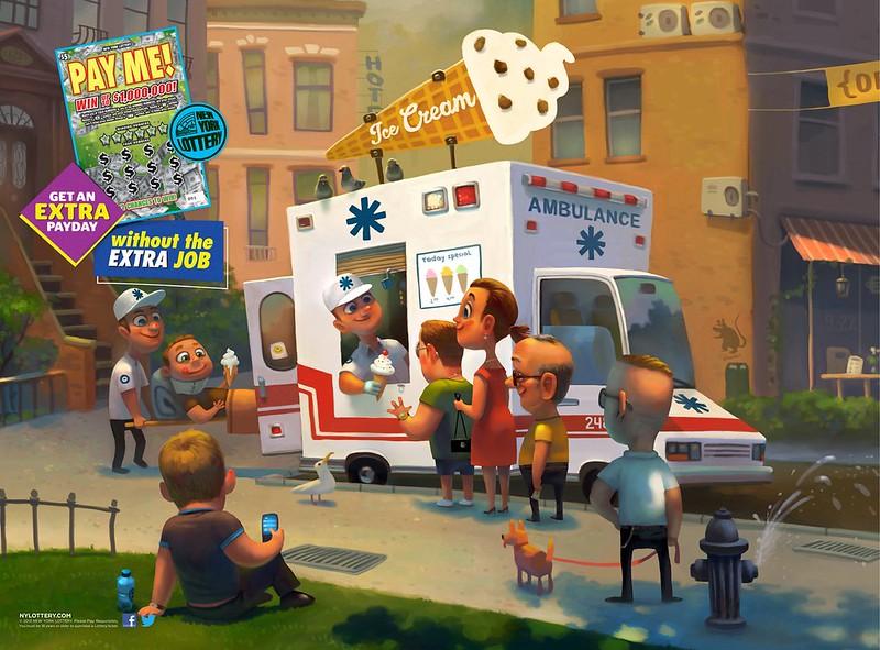 NY LOTTERY payme_ambulance_aotw