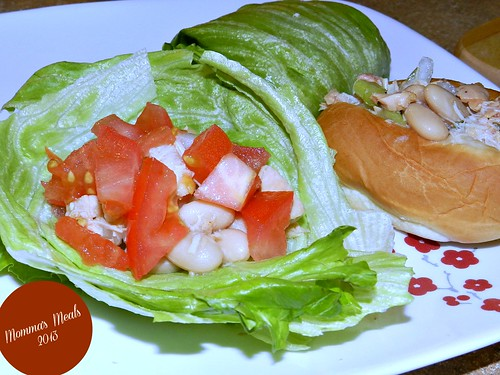 Chicken & White Bean Salad Wraps (1)