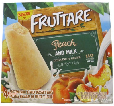 Fruttare Peach and Milk Frozen Fruit and Milk Dessert Bar Box