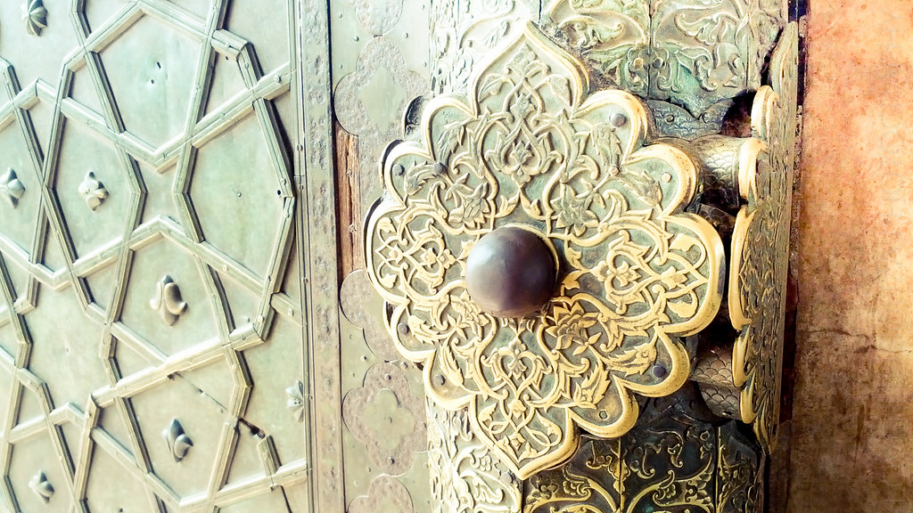 Close up of the Knob on a Door of the Bibi Ka Maqbara